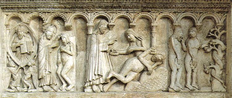 Modena Parma Guide - Le lastre di Wiligelmo nel Duomo di Modena